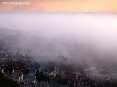 Foggy Sunset Pacifica, California