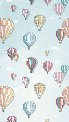 Balloons Illustration Pattern iPhone 5 Wallpaper