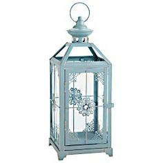 Blue Jeweled Metal Lantern -score centerpiece for each table, now...