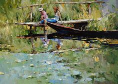 On the lake - Alexi Zaitsev - Sale of paintings and other art works