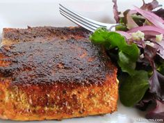 Blackened Sockeye Salmon--Not only is salmon one of the healthiest types of fish, it is one of the healthiest overall foods available, too!