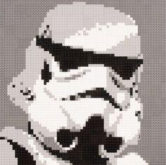 Lego Mosaic Star Wars Storm Trooper by OxfordBrickArt on Etsy Perle Hama Star Wars, Star Wars Crafts, 8 Bits, Pixel Pattern, Star Wars Film, Perler Patterns, Star Wars Characters, Bead Art, Lego Star Wars