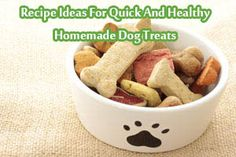 Recipe Ideas For Quick And Healthy Homemade Dog Treats Making your own homemade dog treats can be a fun reward for you dog. There are many benefits to making your own dog treats at home.Control what goes into the recipe. You can ensure that your pet