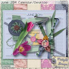 June 2014 Calendar/Desktop Challenge with PattyB - theStudio - mini free - june 2014