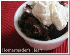 Gluten Free Crockpot Chocolate Pudding Cake @ Homesteaders Heart