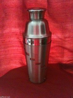 OGGI Cocktail Shaker 32 Ounces Dial a Drink 15 Recipes Stainless Steel 4 Pieces