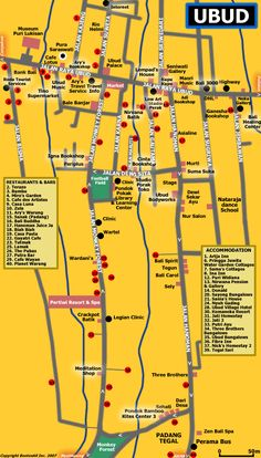 ubud map for my future visit.