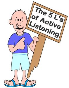 FREE The 5 L's of Active Listening Posters and Worksheets PDF file    12 page free file.    It is important to have a practical listening framework to model to young children when actively learning.     This easy to recall 5 L's of active listening is the way to go. www.teacherspayte...