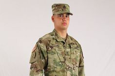 A U.S. Army soldier displays the new camouflage uniform soldiers can start buying on July 1. U.S. Army photo