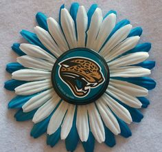 NFL Jacksonville Jaguars white and turquoise hair by Bonesie, $5.00