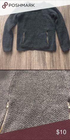 Flippa K charcoal grey merino wool Great condition wool sweater w functioning zipper pockets. Super comfy! flippa k Sweaters Crew & Scoop Necks