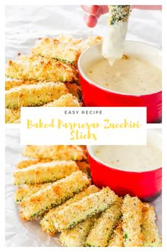 Baked Parmesan Zucchini Sticks – delicious zucchini sticks breaded with Panko breadcrumbs and Parmesan cheese, at only 98 calories a serving. Healthy Vegan Snacks, Healthy Eating Tips, Healthy Cooking, Healthy Recipes, Delicious Recipes, Vegetarian Recipes, Zucchini Sticks, Parmesan, Easy Baking Recipes