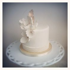 {A Soft Charm} A ceremonial cutting cake in Raspberry Mocha Passion- yum! by The Cake Whisperer Mini Wedding Cakes, Wedding Cakes With Flowers, Flower Cakes, Gorgeous Cakes, Pretty Cakes, Fancy Cakes, Mini Cakes, Cake Bars, Torta Candy