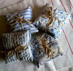 Vintage Fabric Lavender Sachets by gillyflowerdesigns on Etsy