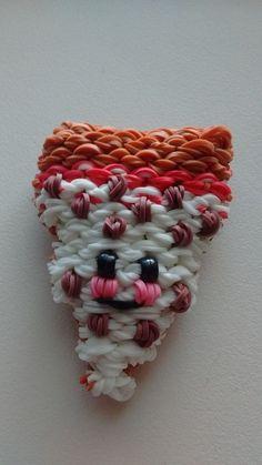 Rainbow Loom Happy Pizza 3D Handmade