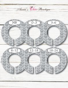 Gender Neutral Dividers Baby Closet by AnniesChicBowtique on Etsy