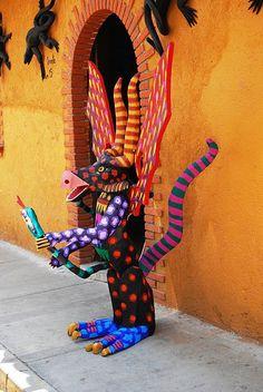 Alebrijes Mexican art- fantasical creatures