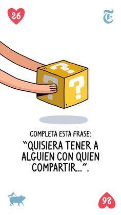 ¿Recuerdas las preguntas para enamorarse de cualquiera? The New York Times en Español y Pictoline las traen en tarjetas. (Ahora solo falta que tengas a esa persona especial enfrente).