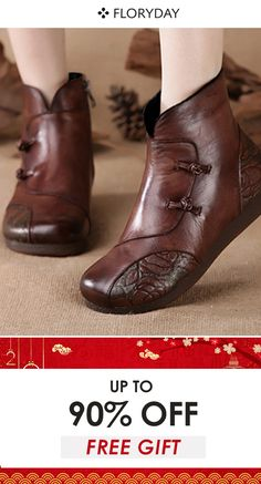 Women's button flat heel ankle boots, women's boots, winter, style, new year. Shoes Flats Winter, Cute Boots, Women's Boots, Flat Heel Ankle Boots, Latest Ladies Shoes, Prom Heels, Sweater Boots, Buy Shoes, Types Of Shoes