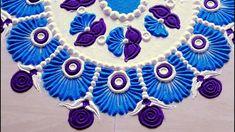 Beautiful flower rangoli designs 3 colours l Muggulu kolam rangoli l rangoli designs with colours How to make Rangoli Design using kitchen utensil Easy rango. Rangoli Designs Latest, Simple Rangoli Designs Images, Rangoli Ideas, Rangoli Designs Diwali, Rangoli Designs With Dots, Rangoli With Dots, Beautiful Rangoli Designs, Simple Rangoli Kolam, Easy Diwali Rangoli