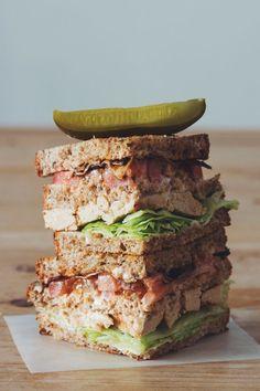 #vegan clubhouse sandwich | RECIPE on hotforfoodblog.com