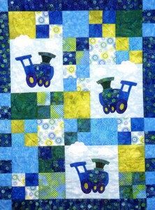 Loco-Motion Baby Quilt Pattern by Country Quilter  Train Engine 201. $7.50, via Etsy.