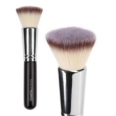 Bionic Flat Top Buffer has dense, soft bristles that's good for buffing in liquid or cream foundation, but it will absorb product.  If you like flat tops brushes, this is a good one to have.
