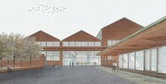 12 modos de representar atmosferas arquitetônicas através de colagens,Projeto: Lycée Hotelier de Lille. Cortesia de Caruso St John Architects