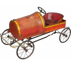 1928 Kirk-Latty Kids Pedal Car. Most original paint intact. Good all original condition. 40 inches long.