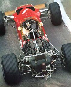 Graham Hill (Lotus-Ford) vainqueur du Grand Prix de Monaco 1969
