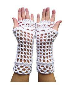 White wedding fingerless gloves