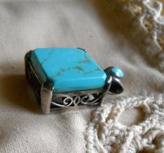 VINTAGE Sleeping Beauty Turquoise Pendant in by ARMOIREdeKARMA, $82.00