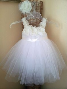 White and Ivory Tutu Dress 2T with a by SimplyYouAccessories, $50.00