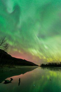 aurora borealis near Palmer, Alaska.