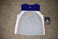 NWT Michael Jordan Jumpman Tank Top Sleeveless Shirt Royal Blue Gray Boys 24 Mo #JordanNike #Everyday