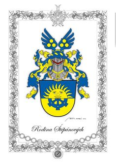 Family Heraldry by Herold Zdenek Velebny, who is the author of more than 150 signs.