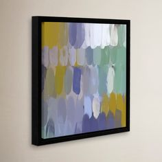 """Mercury Row Abstract Rhythms No 167 Framed Painting Print on Wrapped Canvas Size: 10"""" H x 10"""" W x 2"""" D"""