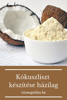 Gluténmentes receptek - kókuszliszt készítése házilag Gluten Free Recipes, Vegan Recipes, Diet Recipes, Sin Gluten, Diet Grocery Lists, Gm Diet, Homemade Guacamole, Vegan Foods, Diy Food