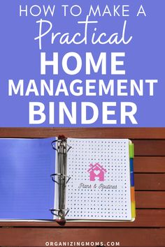 How to make a practical home management binder that simplifies your to-do list. A must-have home management tool for every household. #Organizing #Decluttering #organizingmoms Organize Your Life, Organizing Your Home, Organizing Tips, House Cleaning Checklist, Cleaning Routines, Chore Chart Kids, Chore Charts, Home Binder, Home Management Binder