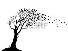 Illustration of illustration of Autumn tree silhouette vector art, clipart and stock vectors. Tree Silhouette, Silhouette Vector, Embroidery Flowers Pattern, Flower Patterns, Twisted Tree, Simple Line Drawings, Free Vector Illustration, Family Tree Wall, Green Life