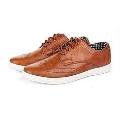 Shoes Click Zapatos de Cordones de Material Sintético Para Hombre Marrón Canela fyPS8MeUBf