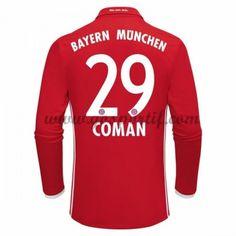 FC Bayern Munichen Cheap Home Long Sleeve Soccer Shirt COMAN ab19782a7