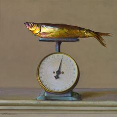 """1 lb."" oil on panel - 16 x 16 inches - 2013 Jeffrey T. Larson"
