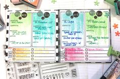 August Bullet Journal by Andi Schalow for Papertrey Ink (August 2017)