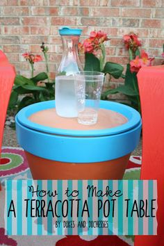 how to make a terracotta pot table
