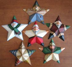 Metal stars painted by Lee Wismer from a design by Mary Jo Tuttle.