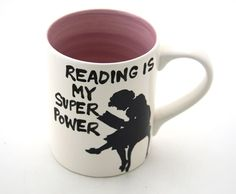 Reading is my Super power mug by LennyMud on Etsy, $16.00