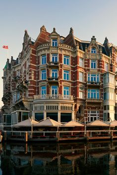The hotel is located on the banks of the Amstel River in the heart of historic Amsterdam