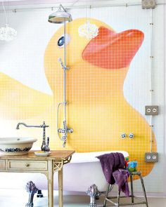 giant  ducky wall mural