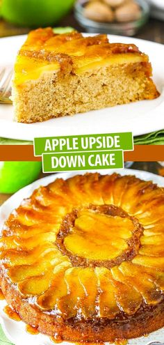 This Apple Upside Down Cake is made for fall, with warm nutmeg, cinnamon and brown sugar flavors. It's simple to make and perfect for dessert or even breakfast! Best Cake Recipes, Dessert Recipes, Pumpkin Recipes, Fall Recipes, Light Cakes, Pineapple Upside Down Cake, Fall Baking, Fall Food, Yummy Cakes